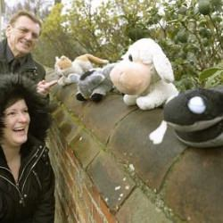 Picture Of On a bear hunt: Mystery toy fan bemuses residents by scattering teddy bears round estate