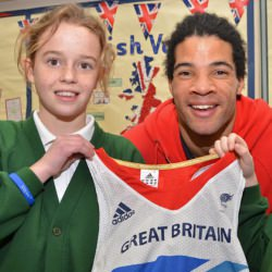 Picture Of Faster, higher, stronger with Paralympian Sam at Deeping St James school