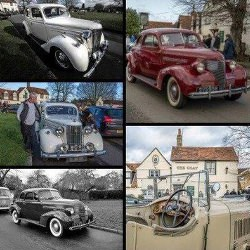 Picture Of Classic car owners gather at The Goat, Hertford Heath
