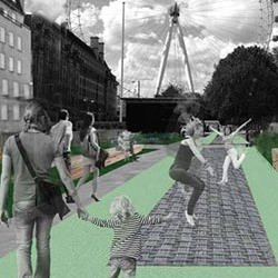Picture Of Transport for London are paying for the world`s longest urban trampoline to be installed in London