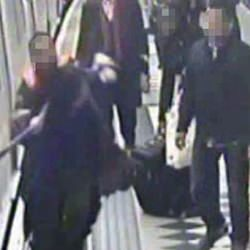 Picture Of Woman Dragged By Tube As Scarf Gets Caught In Doors